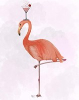 Flamingo and Cocktail 3 Fine-Art Print