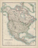 Map of North America Fine-Art Print