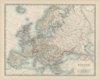 Map of Europe Fine-Art Print