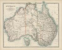 Map of Australia Fine-Art Print