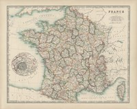 Map of France Fine-Art Print