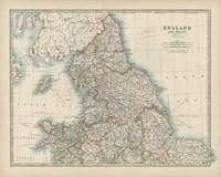 Map of England & Wales Fine-Art Print