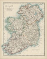 Map of Ireland Fine-Art Print