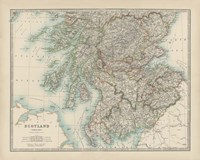 Map of Scotland Fine-Art Print