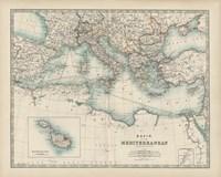 Map of the Mediterranean Fine-Art Print
