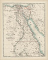 Map of Egypt Fine-Art Print