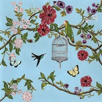 Bird Song Chinoiserie I Fine-Art Print