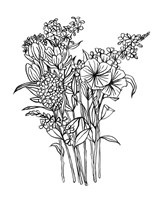 Black & White Bouquet II Fine-Art Print