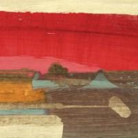 Moon Rising from the Crimson Sky II Fine-Art Print