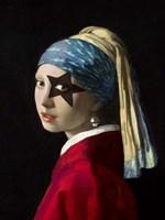 Girl with Skull Hearring Fine-Art Print