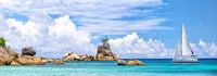 Sailboat at La Digue, Seychelles Fine-Art Print