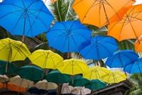 Mauritius, Port Louis, Caudan Waterfront Area With Colorful Umbrella Covering Fine-Art Print