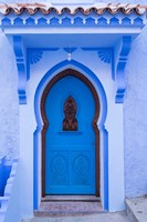 Morocco, Chefchaouen A Traditional Door Fine-Art Print