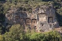 Turkey, Dalyan, Mugla Province The Six Lycian Rock-Cut Tombs Fine-Art Print