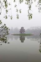 Hanoi Lake, Hanoi, North Vietnam, Pagoda Fine-Art Print