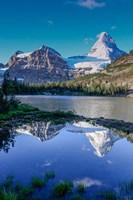 Mount Assiniboine And Mount Magog As Seen From Sunburst Lake Fine-Art Print