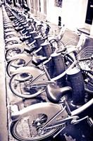 Velib Bicycles For Rent, Paris, France Fine-Art Print