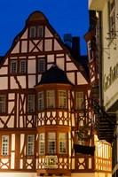 Germany, Hesse, Limburg An Der Lahn, Half-Timbered Building, Dawn Fine-Art Print