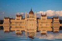 Hungary, Budapest Parliament Building On Danube River Fine-Art Print