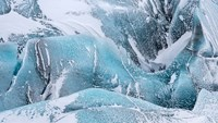 Svinafellsjoekull Glacier In Vatnajokull During Winter Glacier Front And Icefall Fine-Art Print