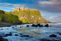 Sunrise Over Dunluce Castle Along Northern Coast Of County Antrim, Northern Ireland Fine-Art Print