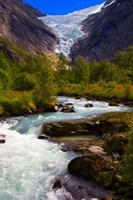 Norway Briksdal Glacier And River Fine-Art Print