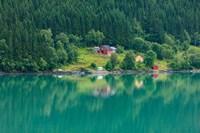 Wooden Farmhouses Architecture Olden Norway Fine-Art Print