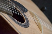 Portugal, Coimbra Fado Musician's Portuguese Guitar Head, Sound Box, Pegs And Strings Fine-Art Print