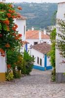 Portugal, Obidos Leira District Cobblestone Walkway Fine-Art Print
