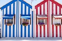 Portugal, Costa Nova, Fisherman's Village Fine-Art Print