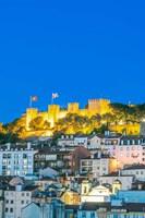 Portugal, Lisbon, Sao Jorge Castle At Dusk Fine-Art Print