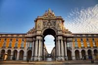 Portugal, Lisbon, Rua Augusta, Commerce Square, Arched Entry Fine-Art Print