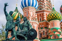 Monument To Minin And Pozharsky St Basil's Basilica Red Square Moscow, Russia Fine-Art Print