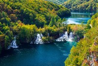 Lake Kozjak And Travertine Cascades On The Korana River, Croatia Fine-Art Print