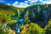 Travertine Cascades On The Korana River, Plitvice Lakes National Park, Croatia Fine-Art Print