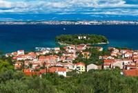 Town Of Preko And The Dalmatian Coast From St Michael's Fort, Croatia Fine-Art Print