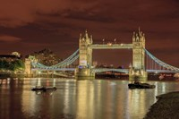 Tower Bridge At Night London England Fine-Art Print