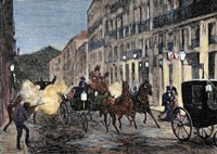Attack On Isabella II (1830-1904) And King Francis Of Spain (1822-1902) Madrid Fine-Art Print