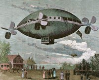 Aerostat Engraving In 'The Illustration', 1887 Fine-Art Print