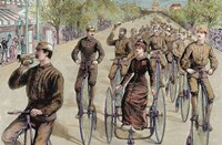 American League Cycles In Pennsylvania Avenue Mid May 1884 Washington Fine-Art Print