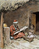 An Old Man With Child French Sudan 1893 Fine-Art Print