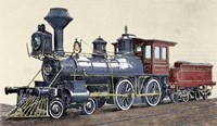 Locomotive Drawing R Loewenstein 'La Ilustracion' 1881 Fine-Art Print