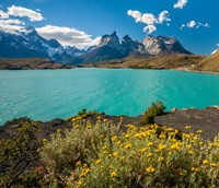 Chile, Patagonia, Torres Del Paine National Park The Horns Mountains And Lago Pehoe Fine-Art Print