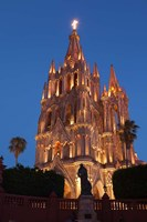 Mexico, San Miguel De Allende Cathedral Of San Miguel Archangel Lit Up At Night Fine-Art Print