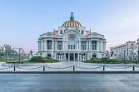 Mexico City, Palacio De Bella Artes At Dawn Fine-Art Print