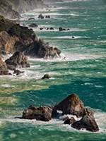 California, Big Sur Waves Hit Coast And Rocks Fine-Art Print