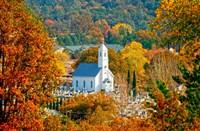 St Sava Serbian Church In Autumn Fine-Art Print