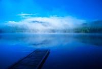 Serenity On A Misty Lake Fine-Art Print