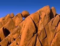 Monzonite Granite Boulders At Sunset, Joshua Tree NP, California Fine-Art Print