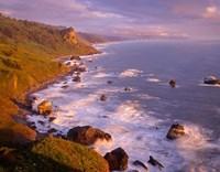 View From High Bluff Overlook To Split Rock, California Fine-Art Print